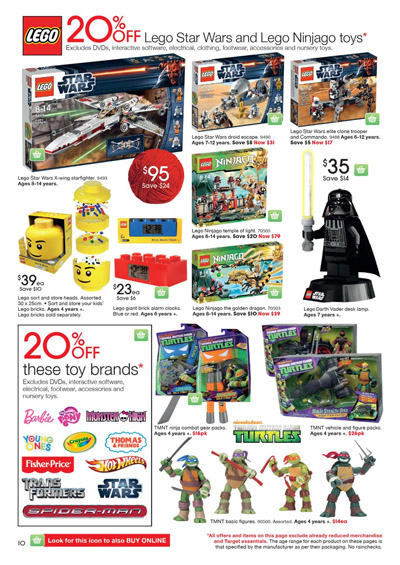 Target Toy Sale 2013 : Target toy sale with lego skylanders wii sony and apple