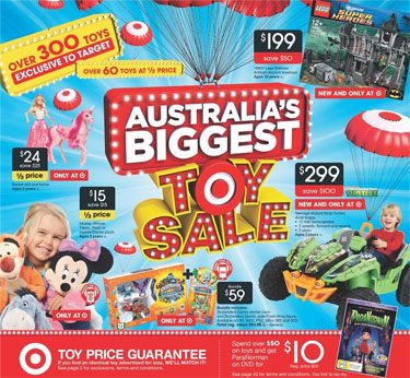 Australia's Biggest Target Toy Sale 2013