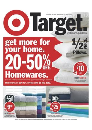 target catalogue home sale