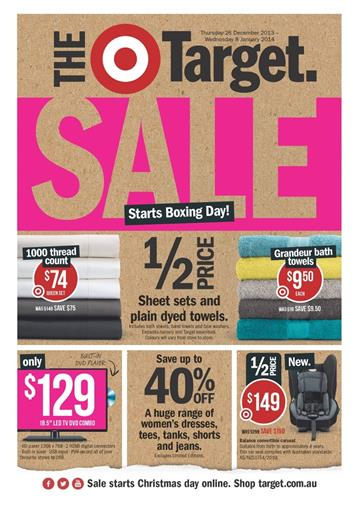 Target Catalogue Boxing Day Sale 2013 Deals