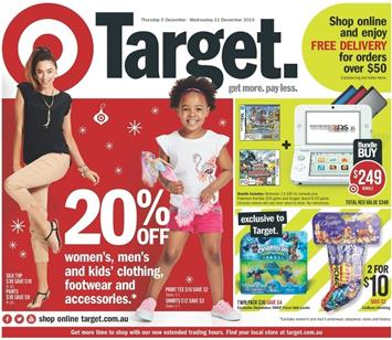 Target Christmas Catalogue December 2013 Gifts and Decorations