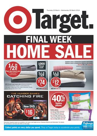 Target Catalogue Home Sale Final Week Offers