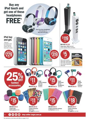 Target iPod Price and Sony Extra Bass Headphones