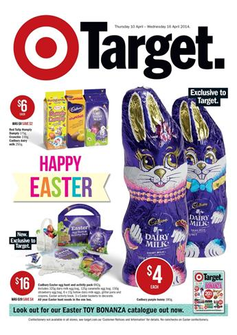 Target Easter Catalogue Gifts and Chocolates