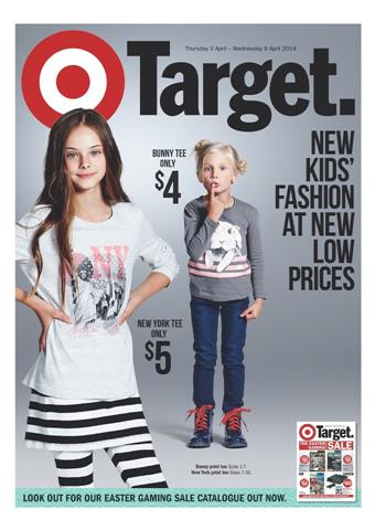 Target Easter Sale Catalogue with Kids Clothing Range