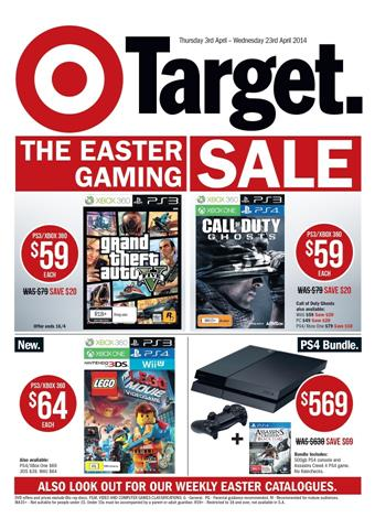 Target Video Game Consoles and Entertainment Electronics Easter Sale