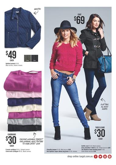 Target Catalogue Clothings Winter Prices