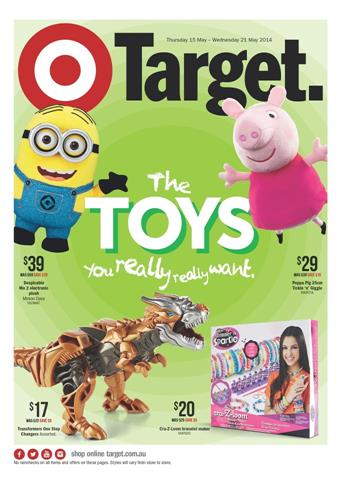 Target Toy Sale Catalogue First Range May 2014