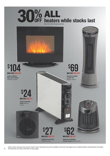 Target Winter Catalogue Heaters July 2014