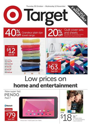 Target Catalogue November Home Entertainments