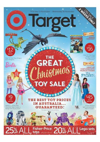 Target Christmas Toy Sale November