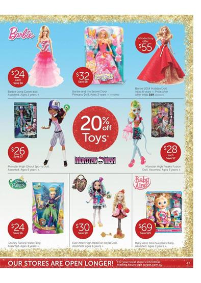 Target Catalogue Christmas Toy Deals December
