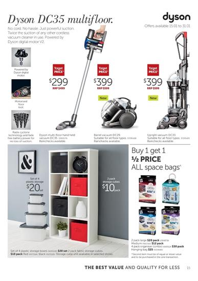 Target Catalogue Vacuum Cleaners January 2015
