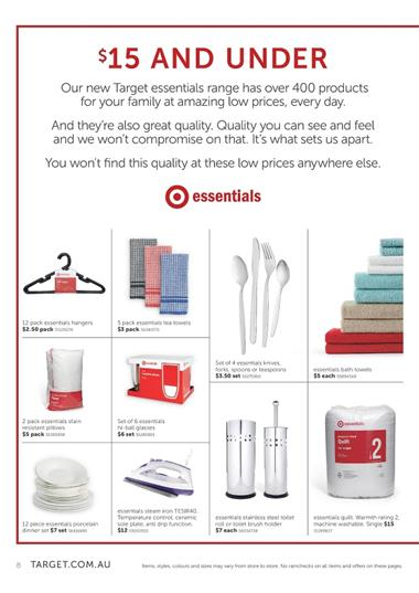 Target Essentials Range January 2015