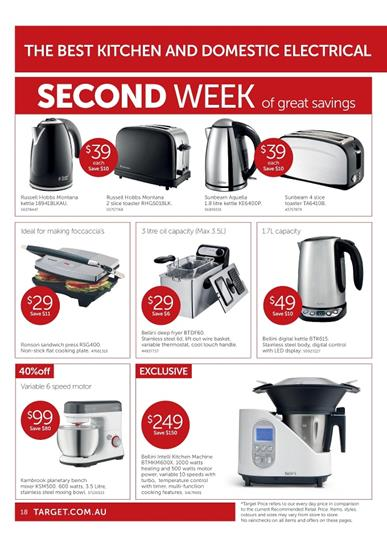 Target Kitchenware From Big Sale Catalogue January