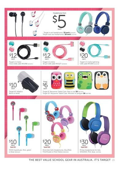Target School Catalogue Electronic Deals