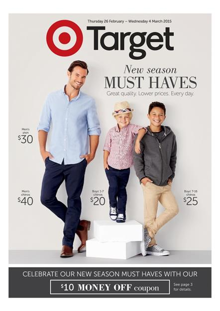 Target Clothing Catalogue Mens and Womens February 2015