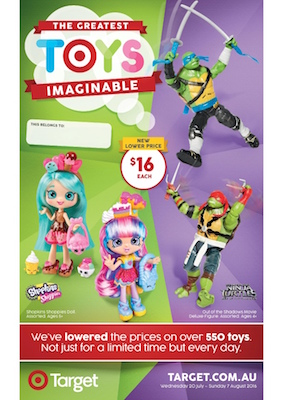 Target Catalogue Greatest Toy Sale 23 July 2016