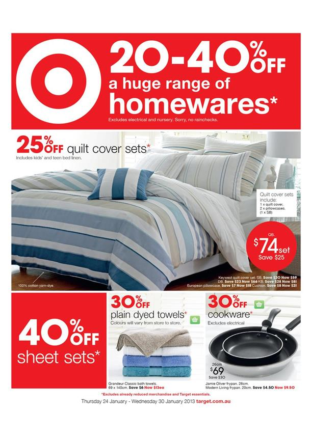 Target Catalogue - 20-40% Off A Huge Range Of Homewares