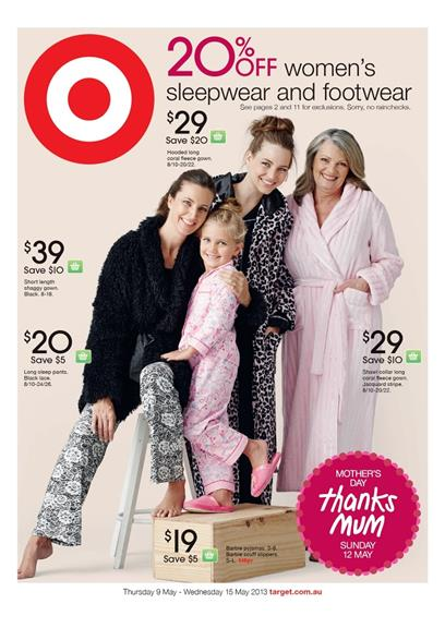 Target Catalogue - 20% Off Women's Sleepwear And Footwear