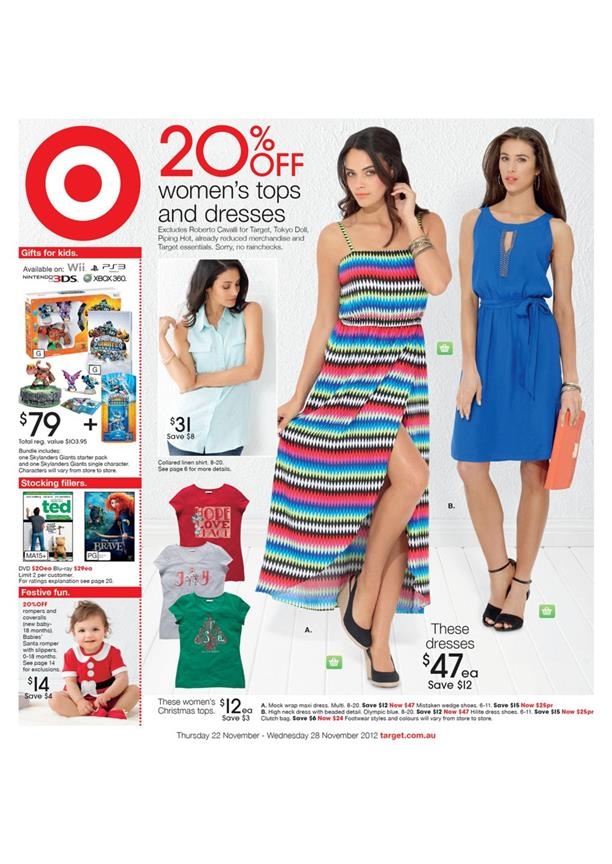 Target Catalog - 20% Off Women's Tops And Dresses