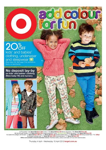 Target Catalogue - Add Colour For Fun April 2013