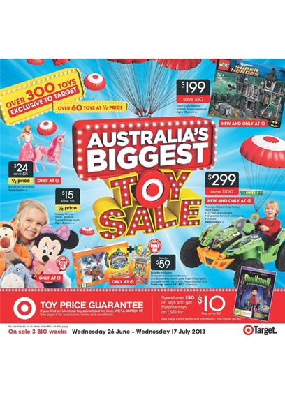 Target Catalogue - Australia's Biggest Toy Sale 2013