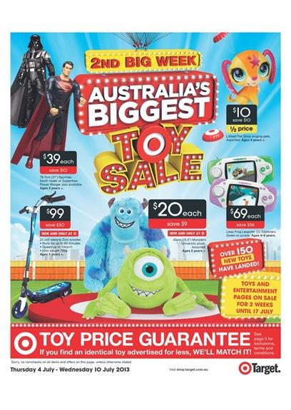 Target Catalogue - Australia's Biggest Toy Sale 2nd Big Week 2013