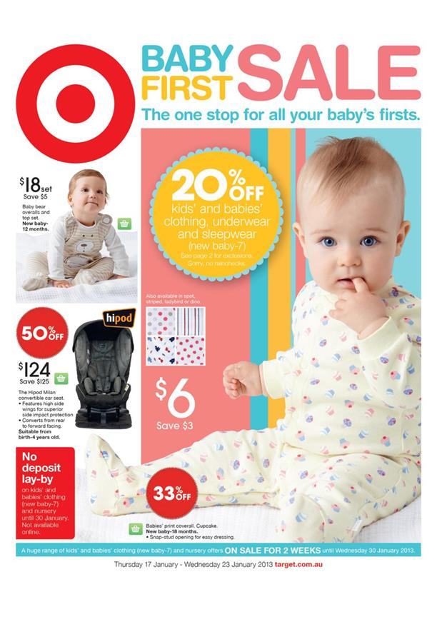 Target Catalogue - Baby First Sale