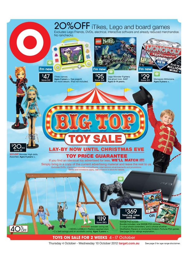 Target Catalogue - Big Top Toy Sale