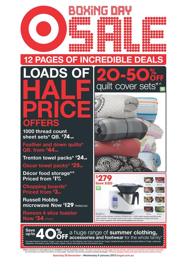 Target Catalogue - Boxing Day Sale 2712