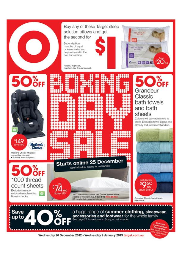 Target Catalogue - Boxing Day Sale