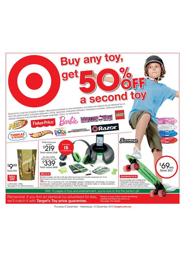 Target Catalogue - Buy Any Toy, Get 50% Off A Second Toy