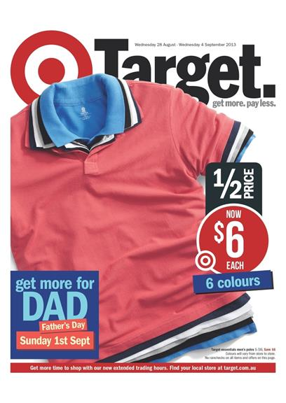 Catalogue of Target Gifts for Dad