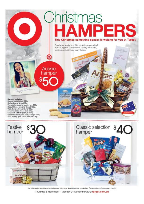 Target Catalogue - Christmas Hampers
