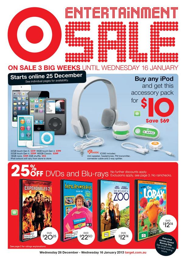 Target Catalogue - Entertainment Sale