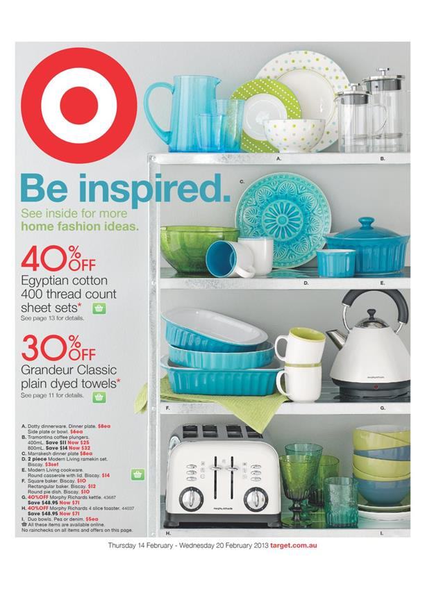 Target Catalogue - Home Sweet Home Fashion - Be Inspired