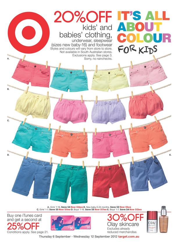 Target Catalogue - It is All About Colour For Kids