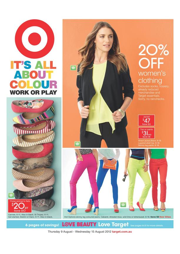 Target Catalogue - It's All About Colour Work Or Play