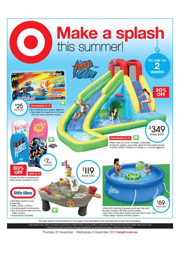 Target Catalogue - Make A Splash This Summer