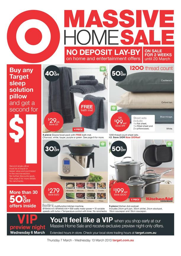 Target Catalogue - Massive Home Sale 2013