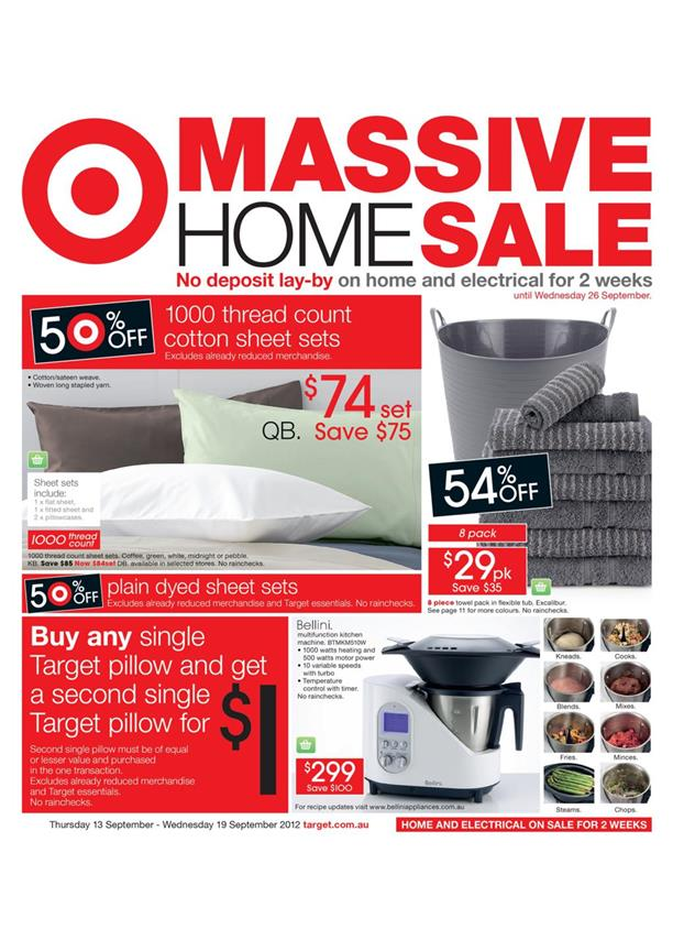 Target Catalogue - Massive Home Sale