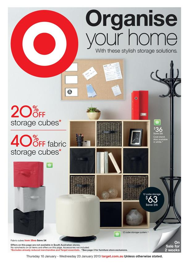 Target Catalogue - Organise Your Home
