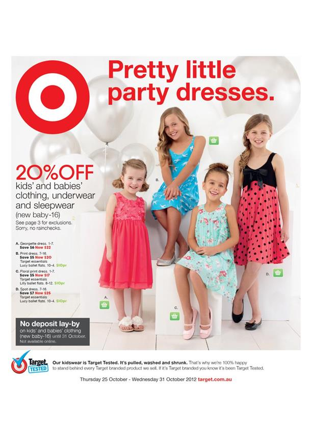 Target Catalogue - Pretty Little Party Dresses