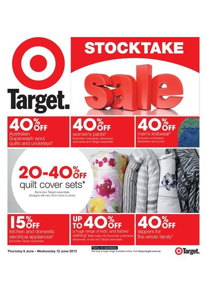 Target Catalogue - Stocktake Sale 0606
