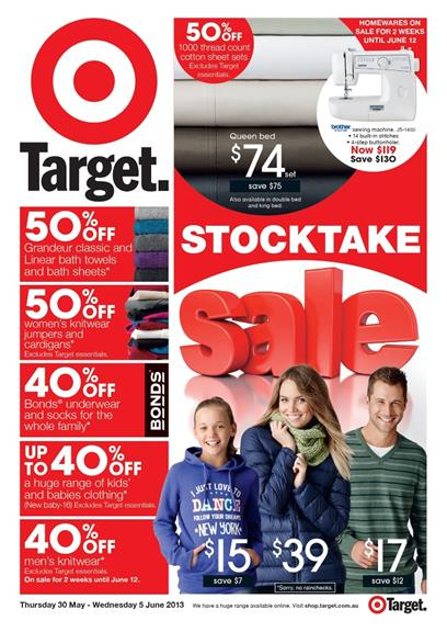 Target Catalogue - Stocktake Sale