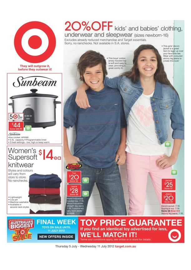 Target Catalogue - 20% Off Kids And Babies Clothing