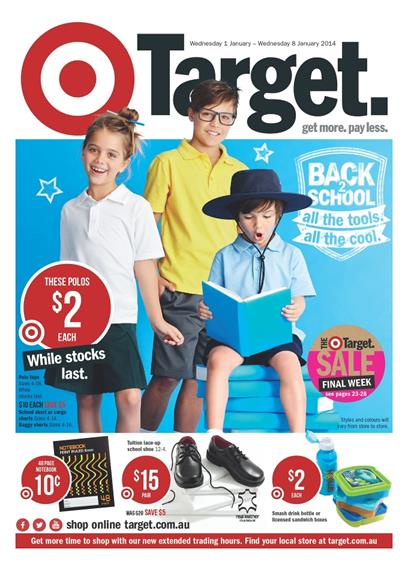 Target Catalogue 2014 January School Supplies