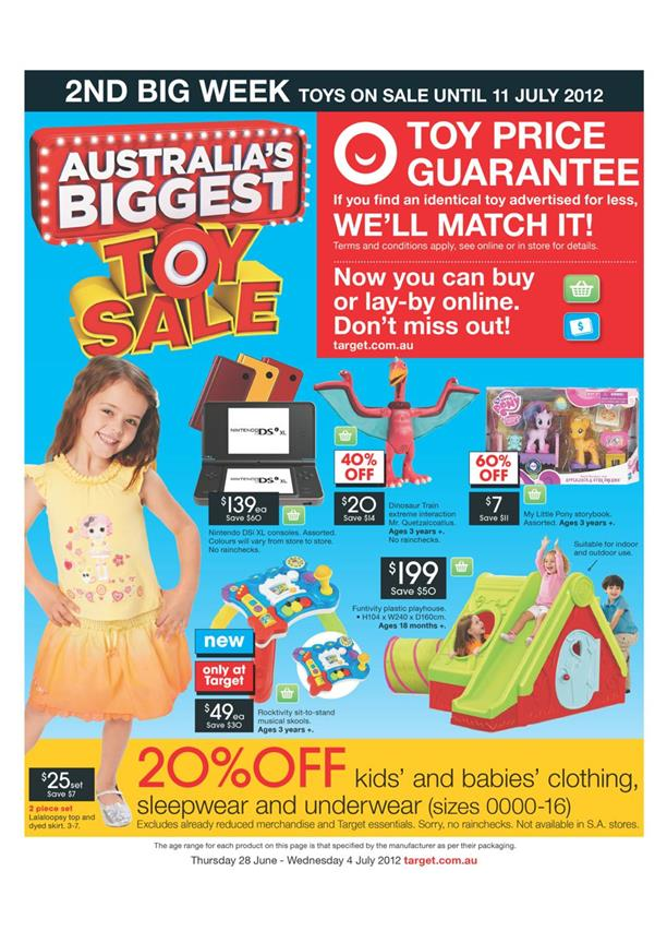 Target Catalogue - Australia's Biggest Toy Sale 2nd Big Week