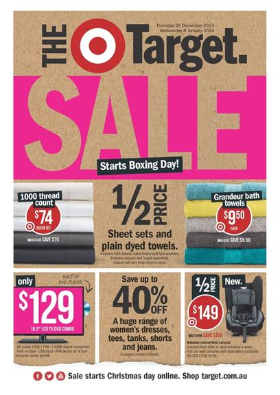 Target Catalogue Boxing Day Sale 2013